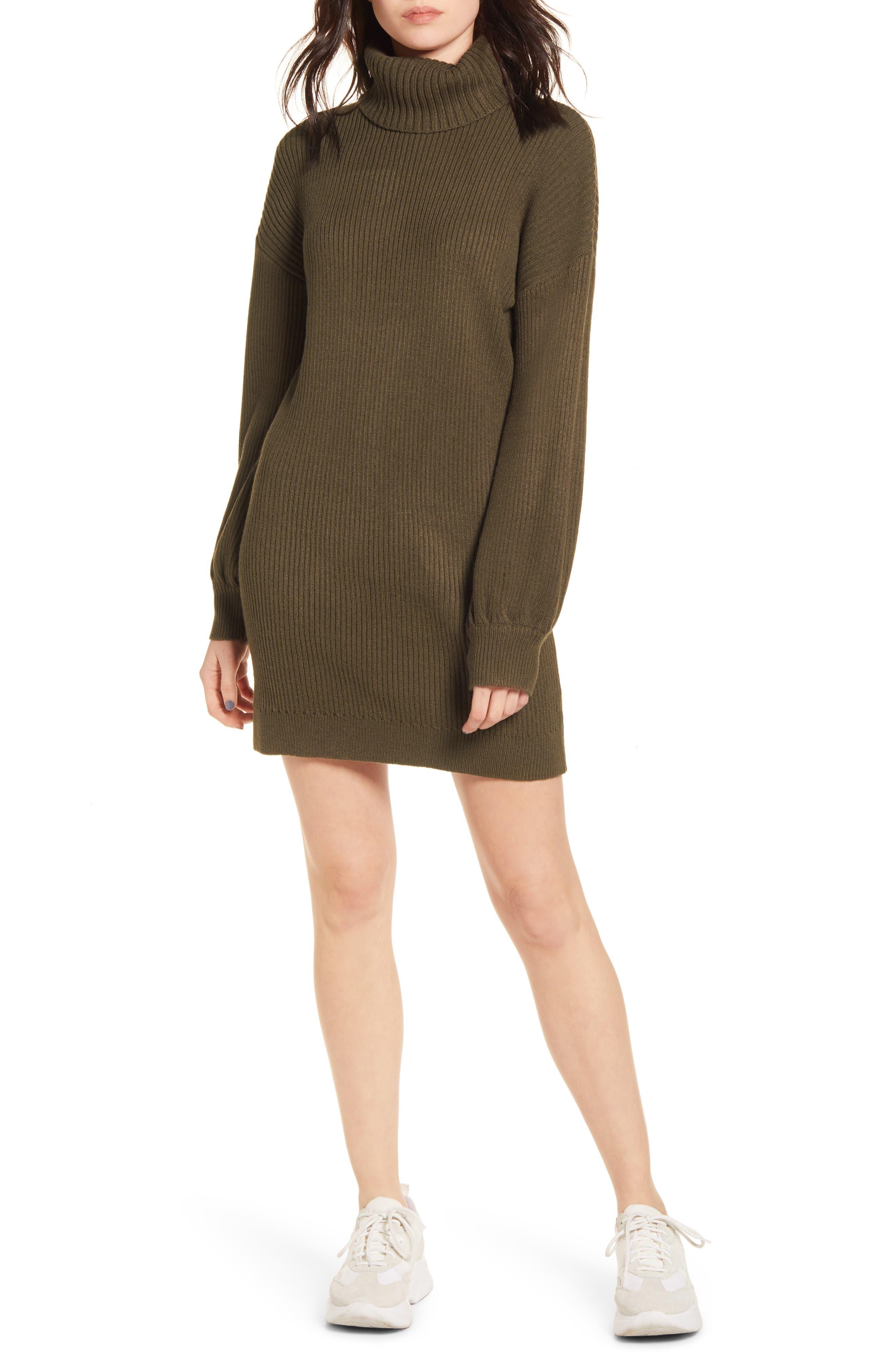 All in Favor Turtleneck Sweater Dress