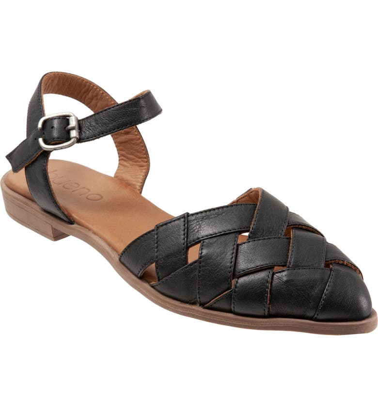 BUENO Bliss Slingback d'Orsay Flat Sandal, Main, color, BLACK LEATHER