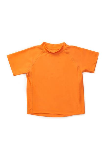 Image of Leveret Short Sleeve UPF +50 Rash Guard - Orange