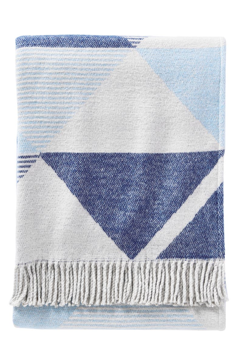 PENDLETON Serrado Throw Blanket, Main, color, BLUE