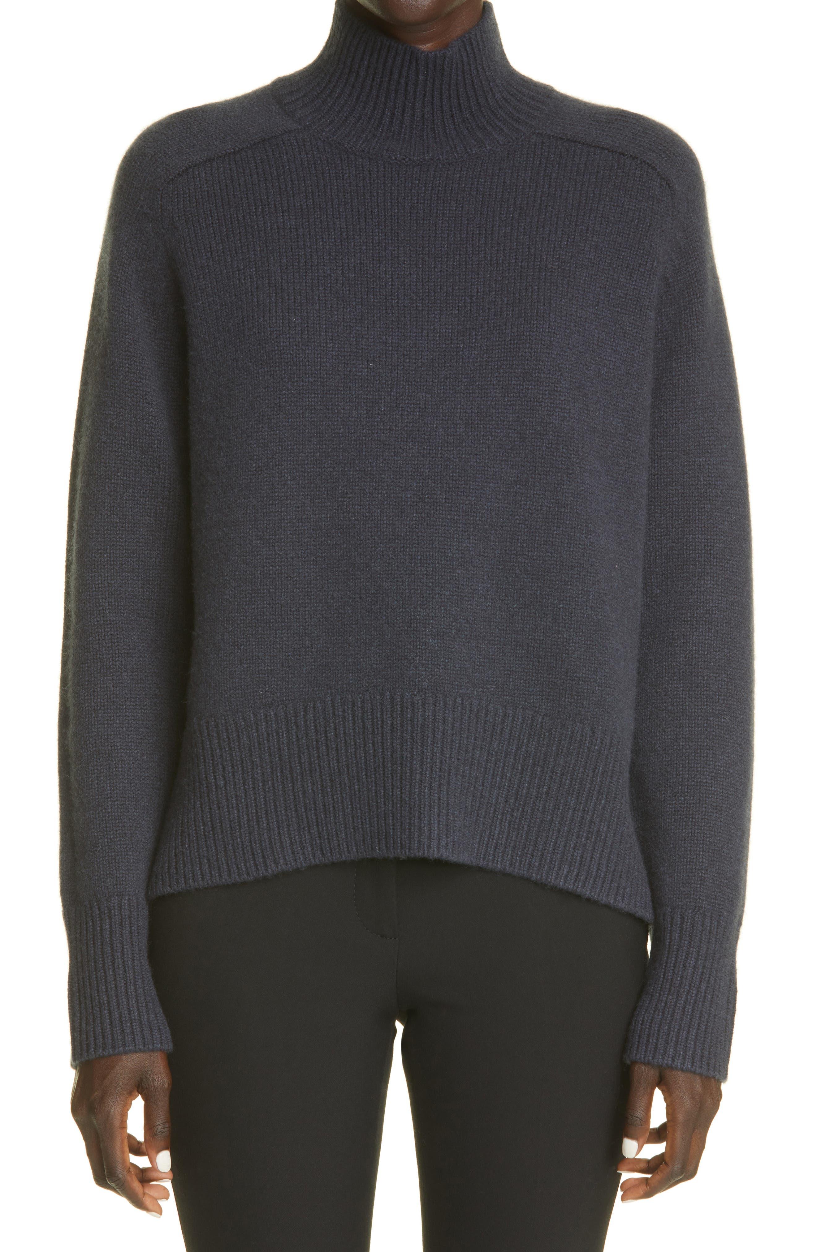 Edith Grove Chunky Mock Neck Cashmere Sweater
