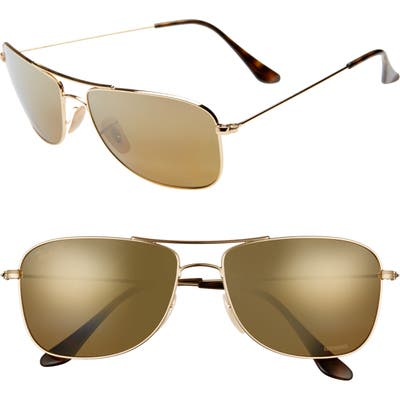 Ray-Ban 5m Chromance Aviator Sunglasses - Gold