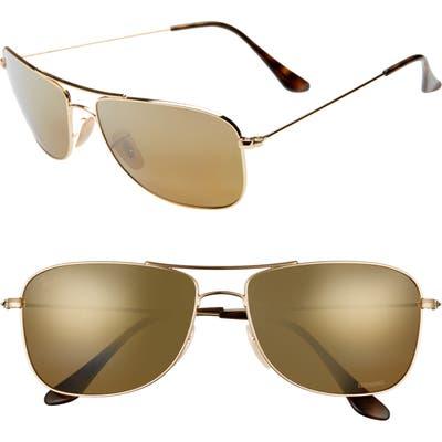 Ray-Ban 5m Chromance Aviator Sunglasses -