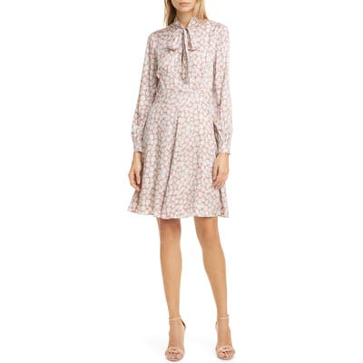 Tailored By Rebecca Taylor Chamomile Floral Long Sleeve Silk Blend Dress, Ivory