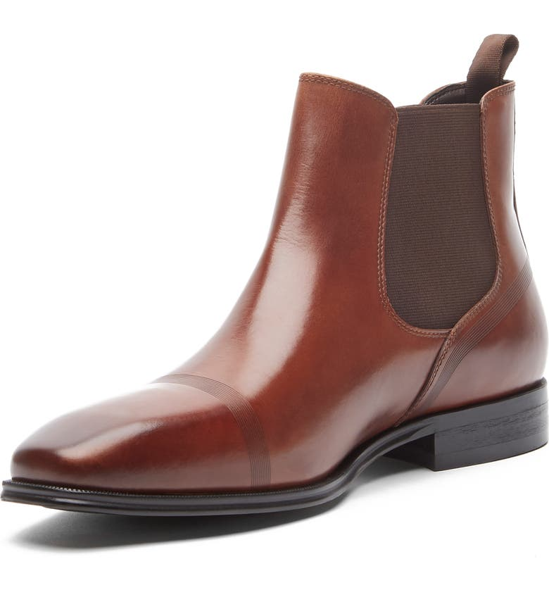 REACTION KENNETH COLE Pure Chelsea Boot, Main, color, BRANDY LEATHER