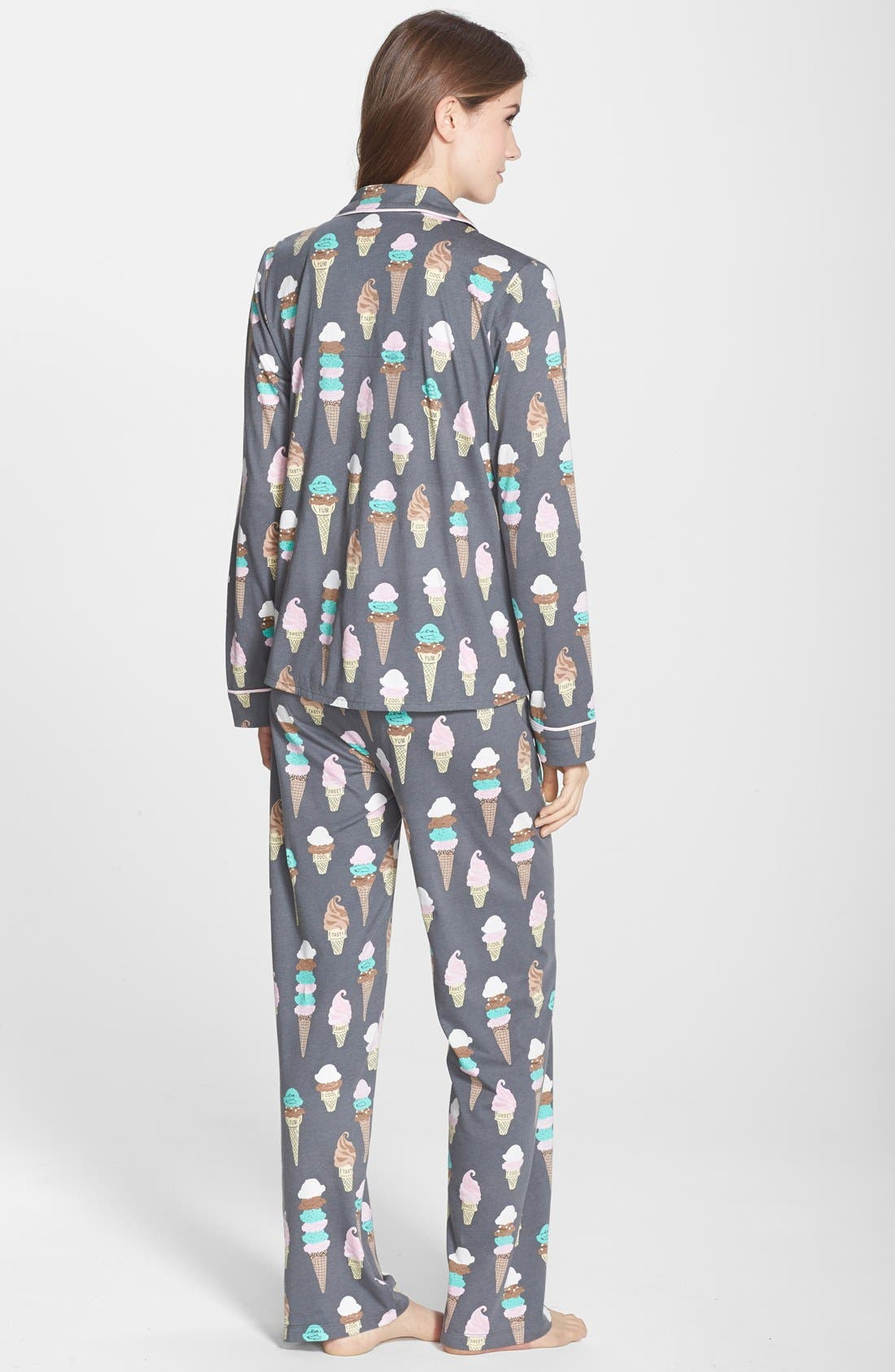 ,                             Print Jersey Pajamas,                             Alternate thumbnail 3, color,                             020