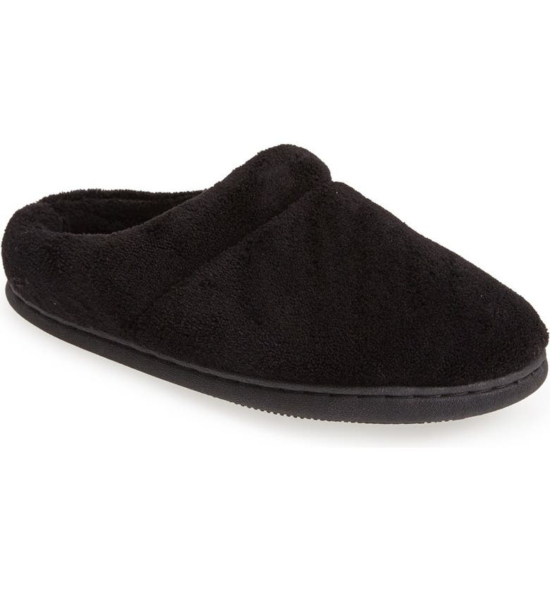 TEMPUR-PEDIC<SUP>®</SUP> 'Windsock' Slipper, Main, color, BLACK