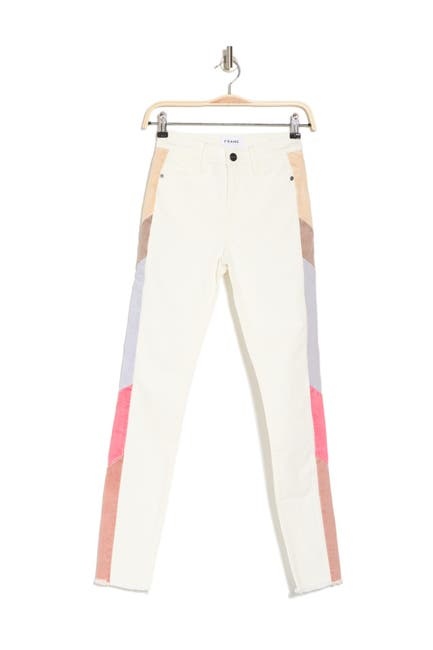 Image of FRAME Le High Colorblock Skinny Jeans
