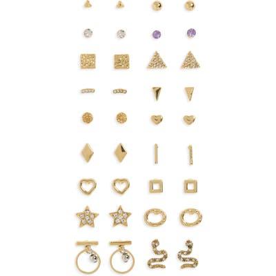 Bp. Set Of 18 Hammered Stud Earrings