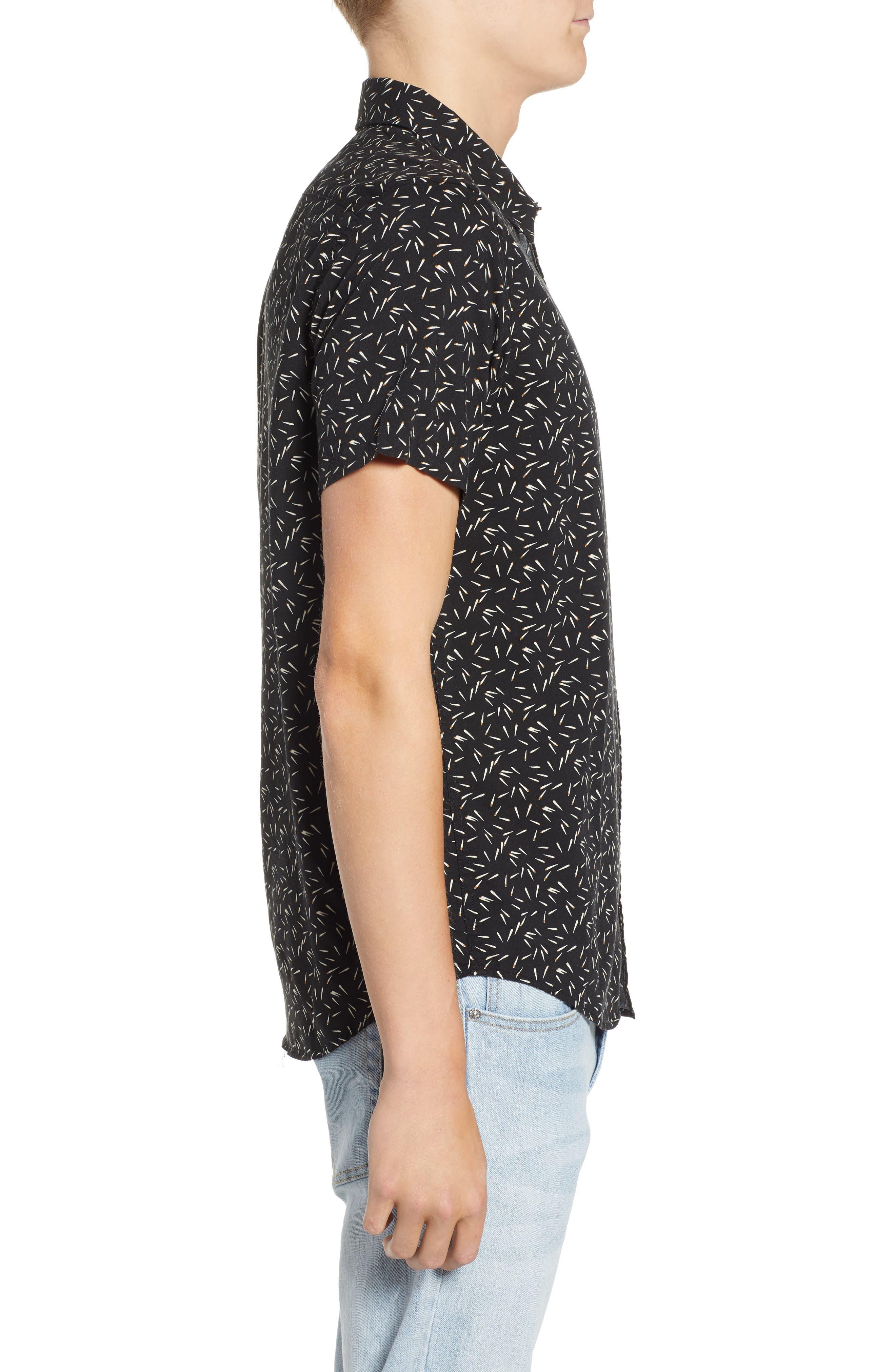 ,                             Pins & Needles Slim Fit Woven Shirt,                             Alternate thumbnail 4, color,                             020