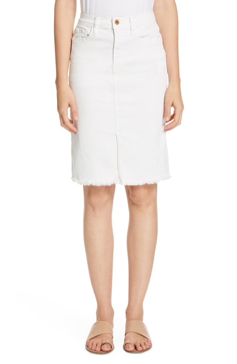 NSF CLOTHING Emmie Denim Skirt, Main, color, SOFT WHITE