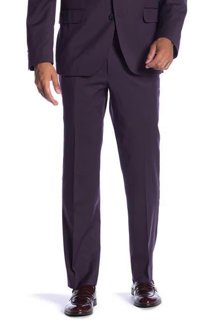 "Image of SAVILE ROW CO New Heathrow Purple Modern Fit Gab Suit Separate Pants - 30-34"" Inseam"