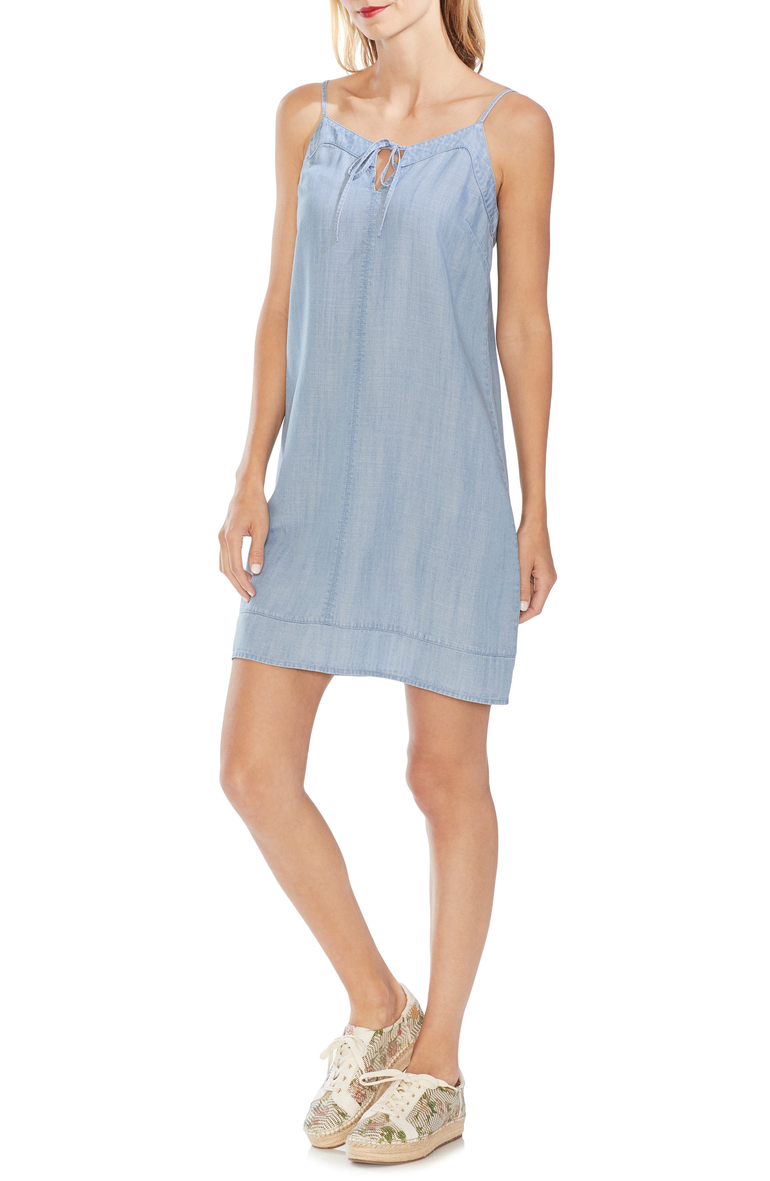 Vince Camuto Chambray Slipdress, Blue