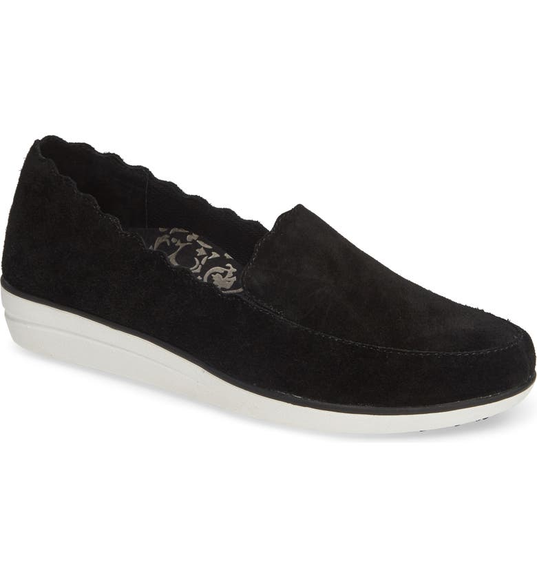 AETREX Christie Loafer, Main, color, BLACK SUEDE