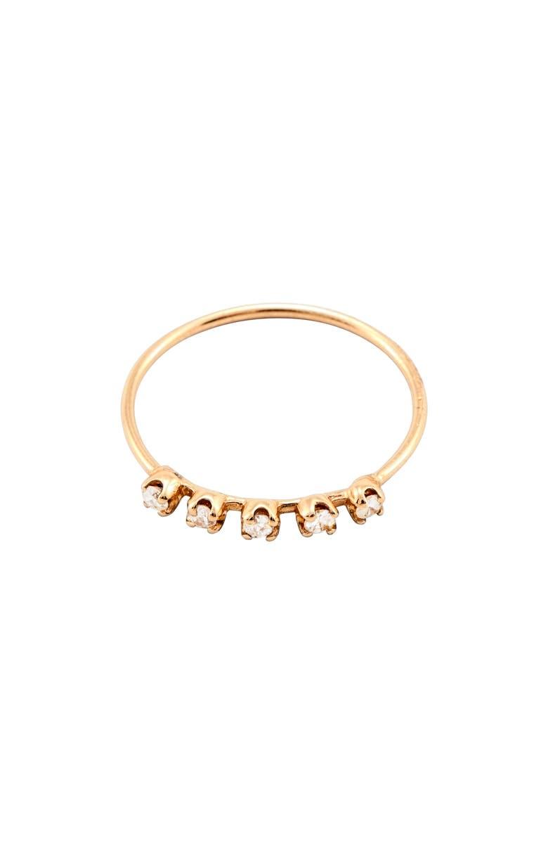 LOREN STEWART Diamond Cinq Ring, Main, color, GOLD