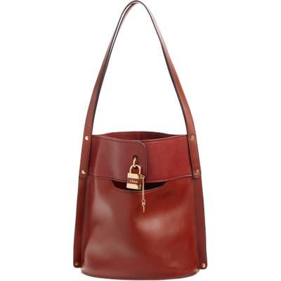 Chloe Aby Leather Bucket Bag - Brown