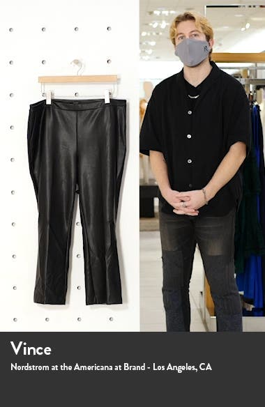 Crop Straight Leg Faux Leather Pants, sales video thumbnail