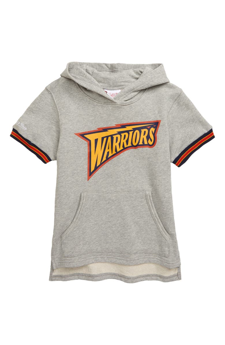 MITCHELL & NESS Golden State Warriors French Terry Hoodie, Main, color, GREY