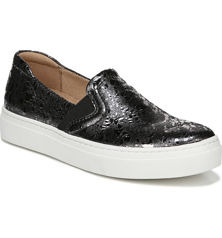 NATURALIZER Carly 3 Slip-On Sneaker, Main, color, PEWTER PRINTED LEATHER