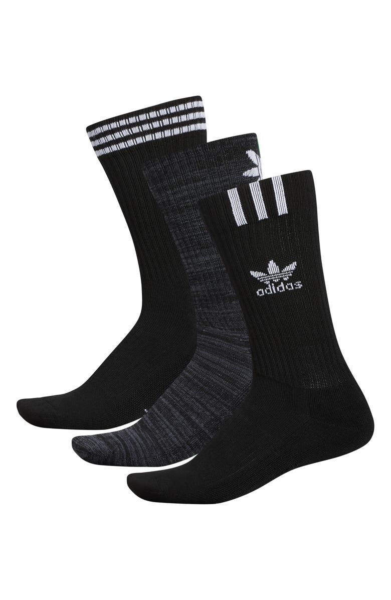 ADIDAS ORIGINALS Graphic Logo I 3-Pack Socks, Main, color, 001