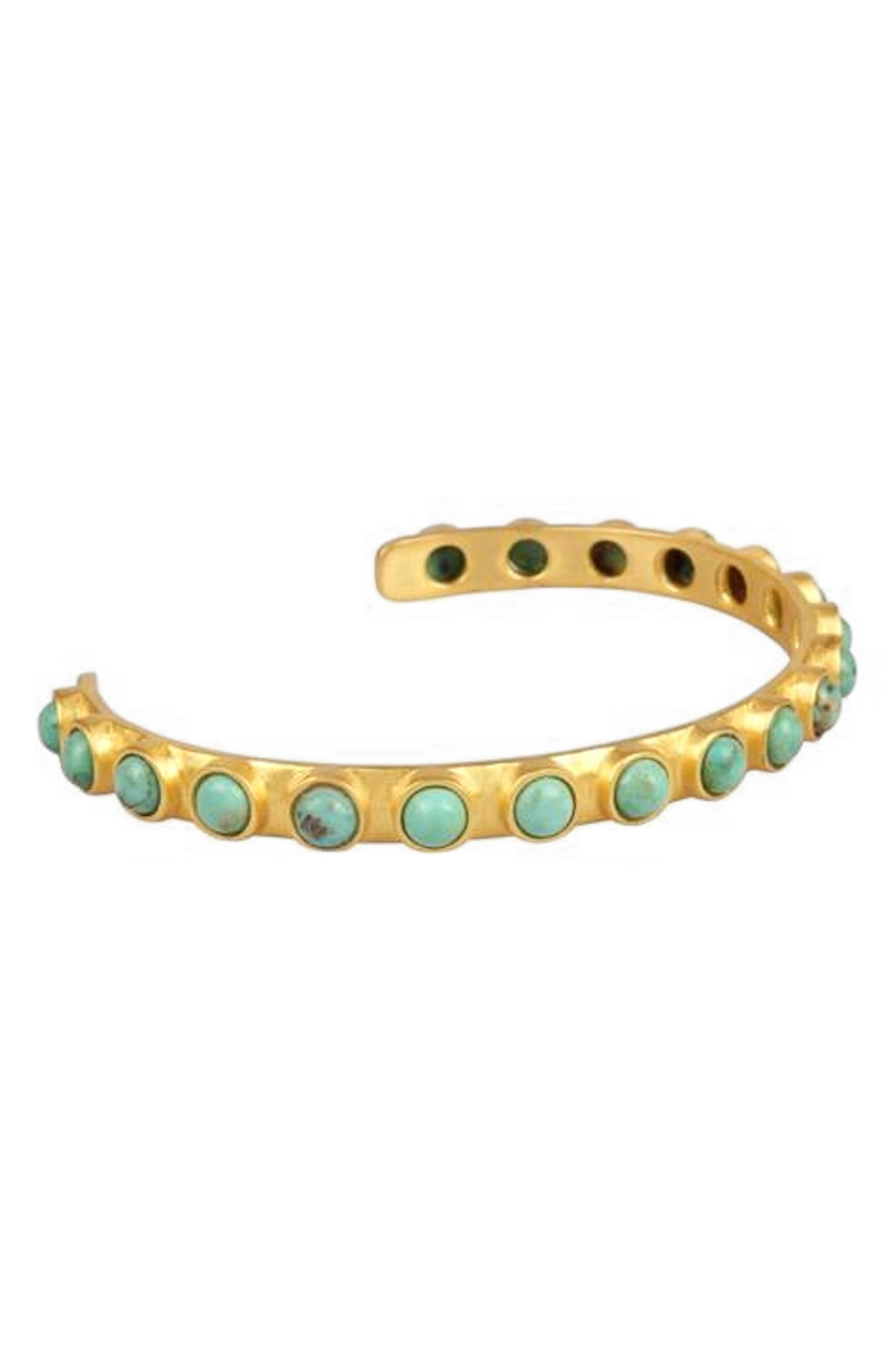 Turquoise Studded Cuff Bracelet