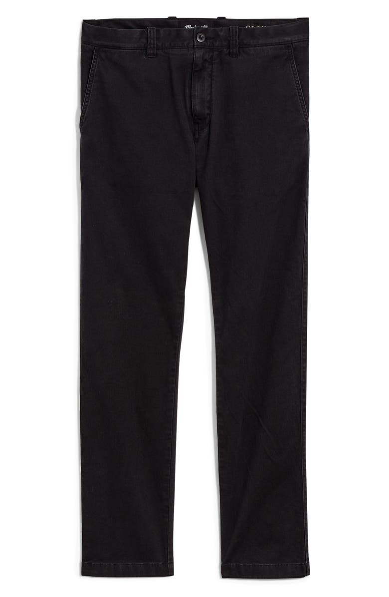 MADEWELL Penn Slim Fit Chino Pants, Main, color, CLASSIC BLACK