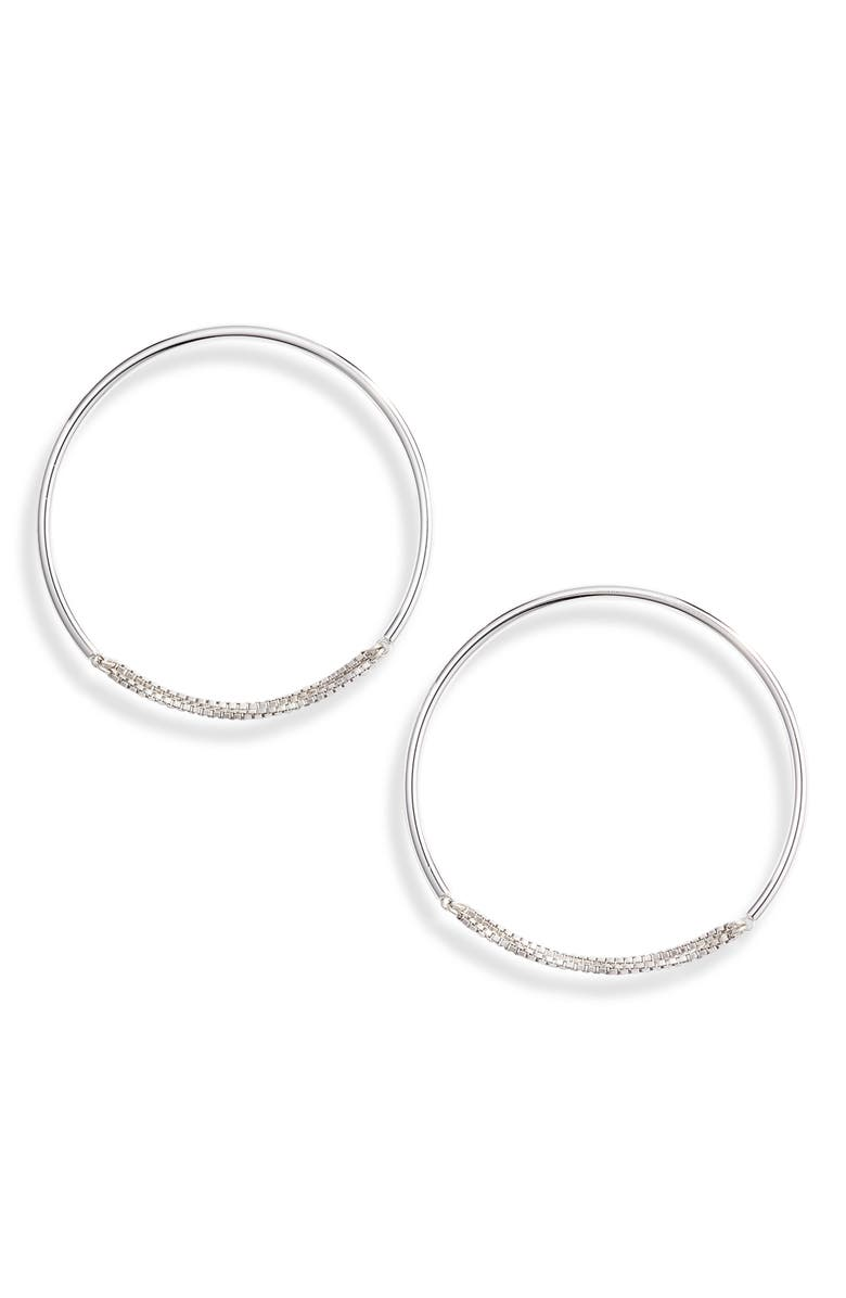 JENNY BIRD Medium Sadie Endless Hoop Earrings, Main, color, SILVER