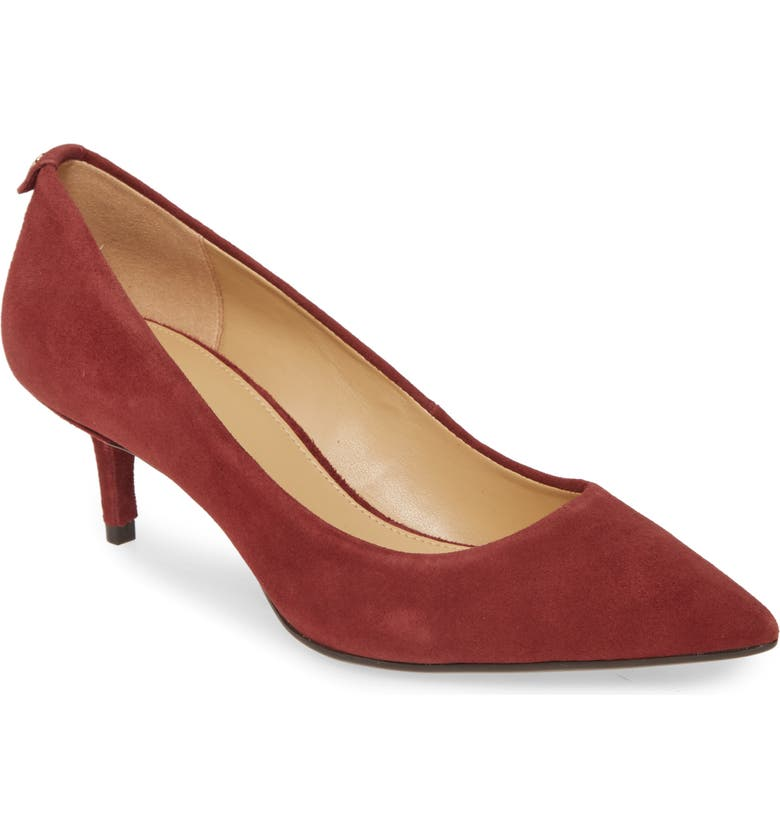 MICHAEL MICHAEL KORS Kitten Heel Pump, Main, color, BRANDY SUEDE