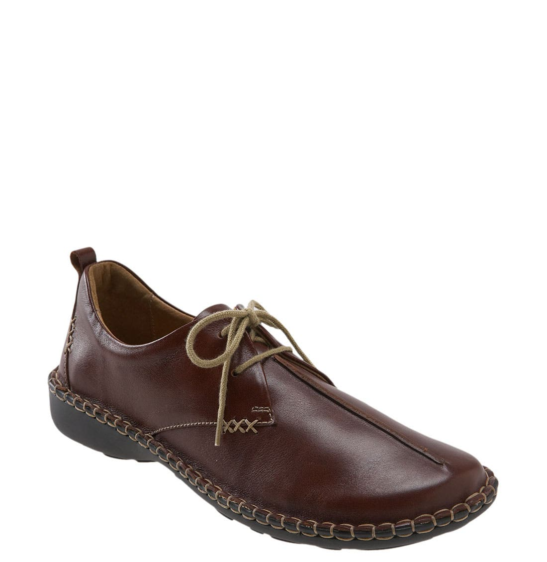 Raised center seam details the vamp of a casual two-eyelet oxford crafted from supple leather and fashioned with contrast stitching around the durable polyurethane sole. Style Name: Josef Seibel \\\'Lindsay\\\' Flat. Style Number: 251691 1. Available in stores.