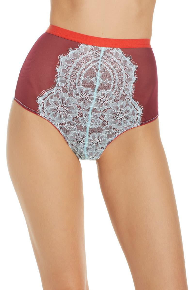 DORA LARSEN Fern High Waist Panties, Main, color, 510