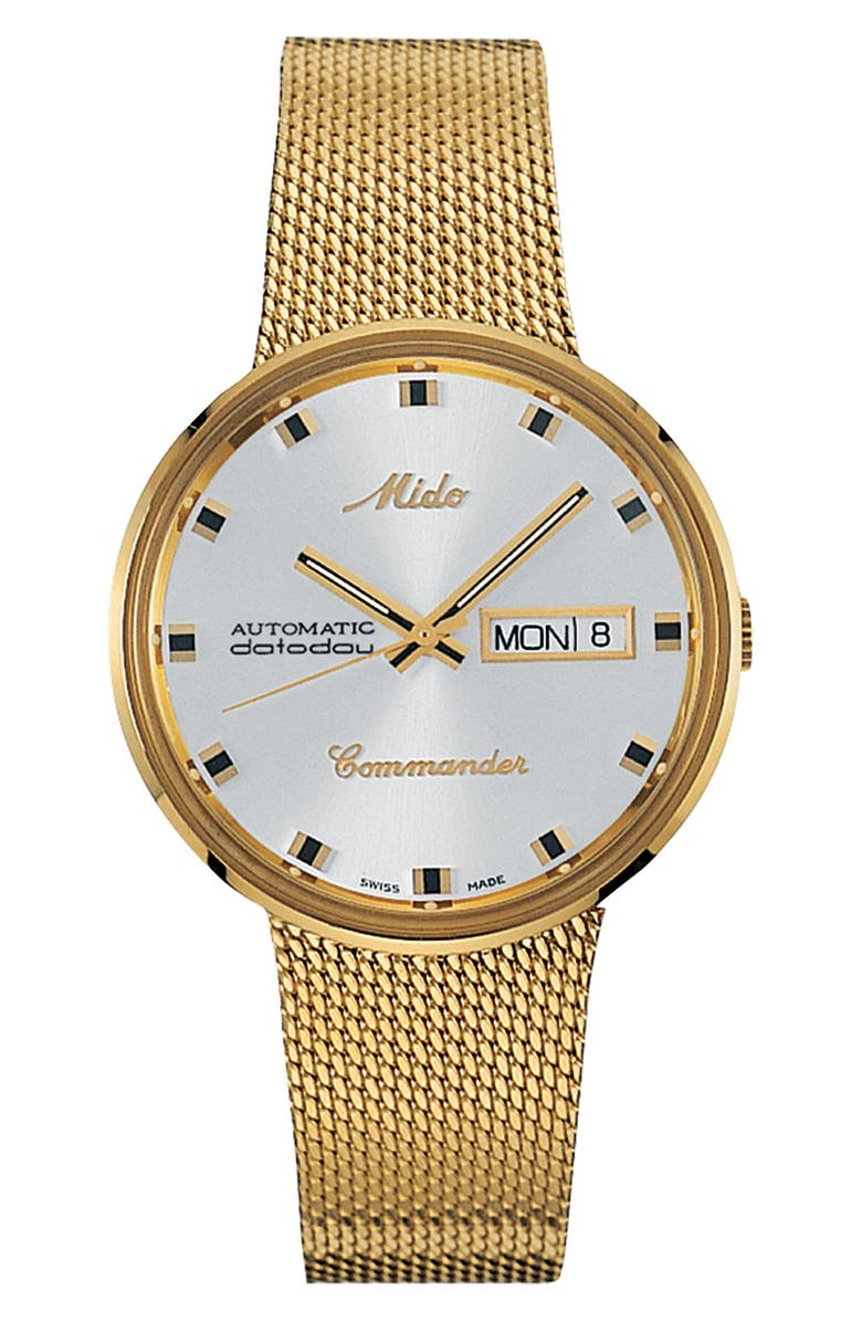 MIDO Commander Automatic Mesh Strap Watch, 37mm, Main, color, 710
