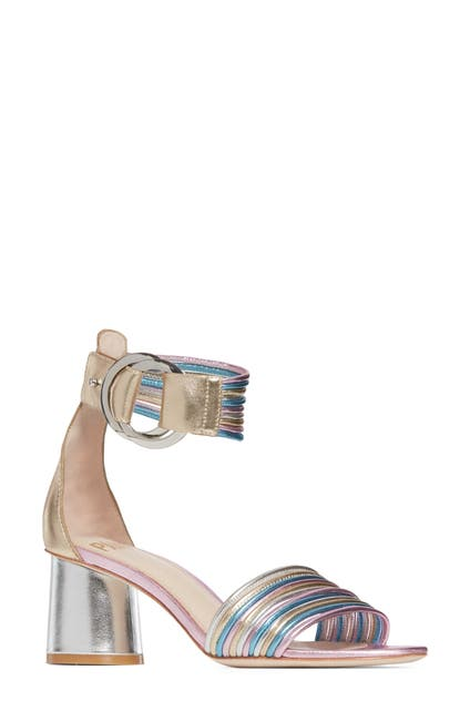 Image of PAIGE Felicity Leather Block Heel Sandal