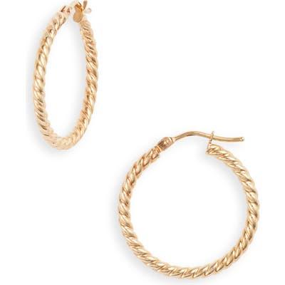 Bony Levy 14K Gold Texture Swirl Hoop Earrings (Nordstrom Exclusive)