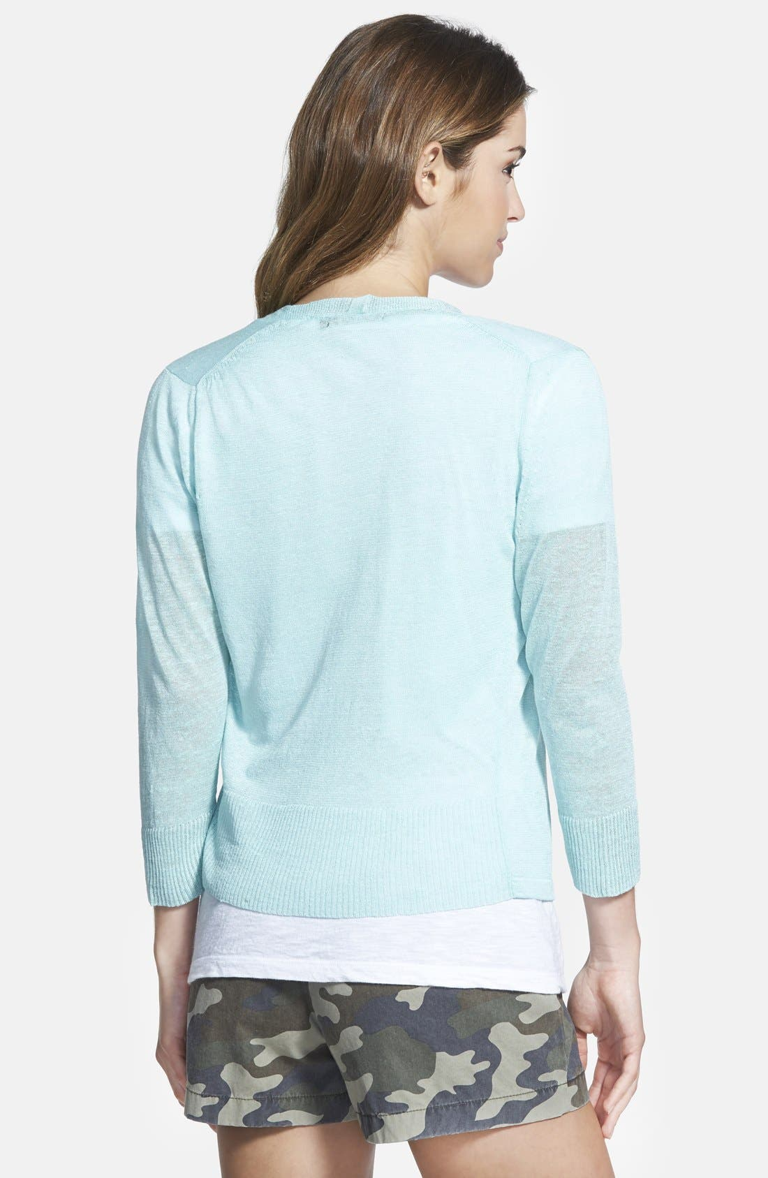 ,                             Relaxed Slub Knit U-Neck Tee,                             Alternate thumbnail 125, color,                             100