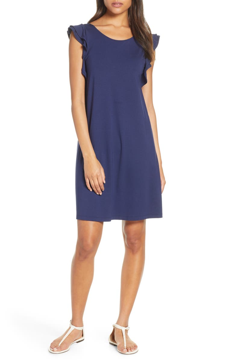 LILLY PULITZER<SUP>®</SUP> Dani Shift Dress, Main, color, TRUE NAVY