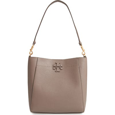 Tory Burch Mcgraw Leather Hobo - Grey