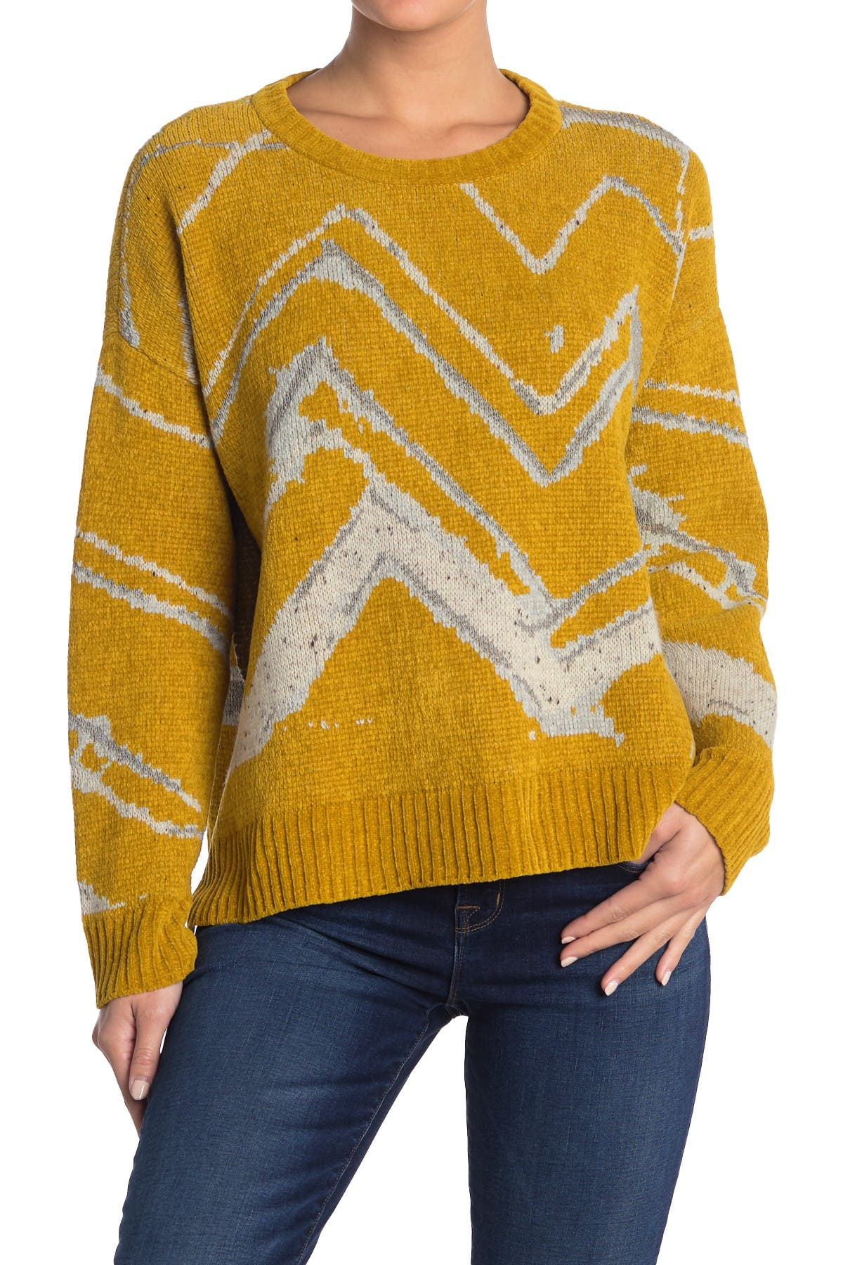 Image of Billy Reid Mountain Jacquard Sweater