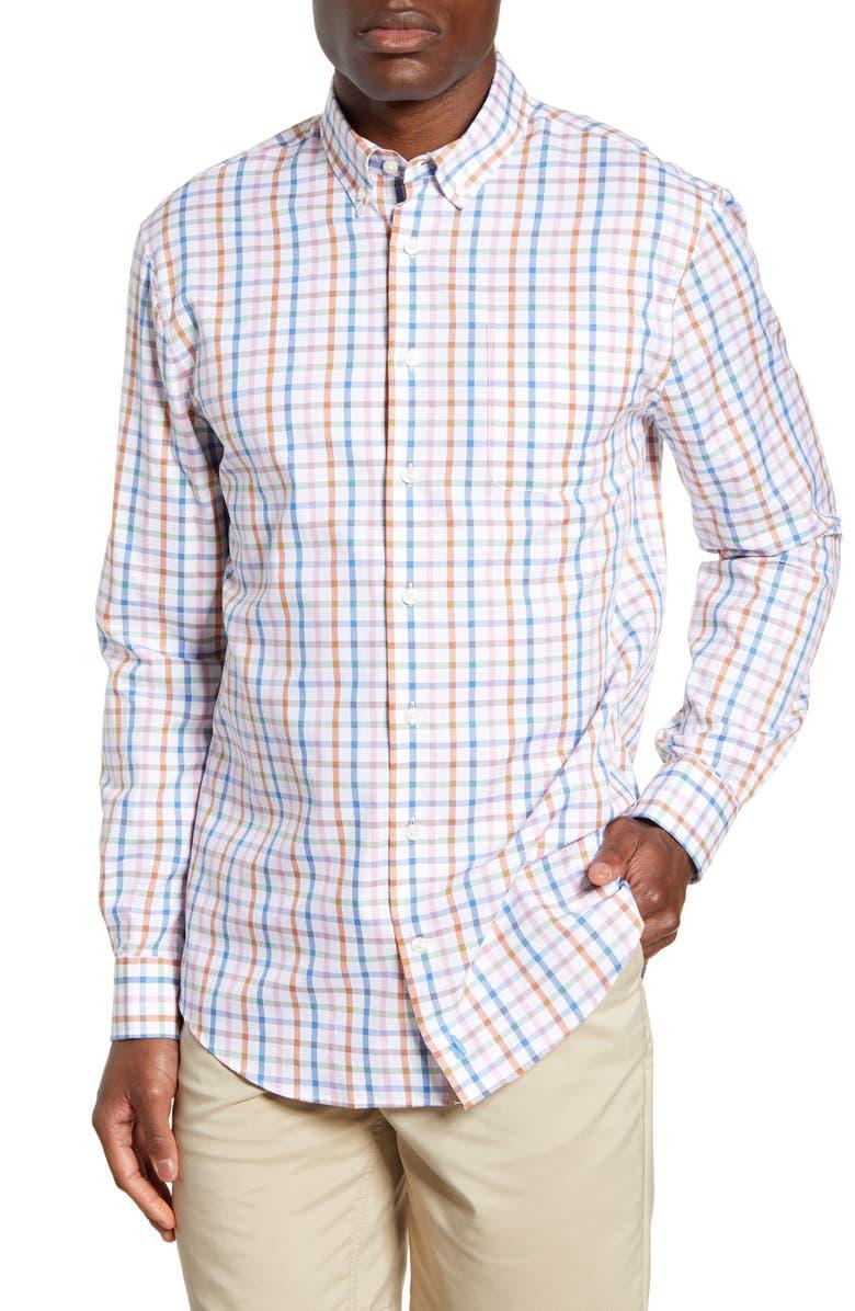 JOHNNIE-O Gabe Classic Fit Check Button-Down Shirt, Main, color, 100