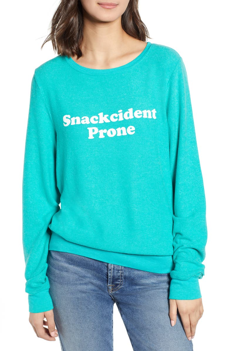 WILDFOX Baggy Beach Jumper - Snackcident Prone Pullover, Main, color, 302