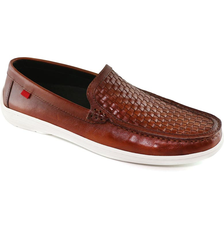 MARC JOSEPH NEW YORK South Street Woven Driving Loafer, Main, color, WHISKEY LEATHER