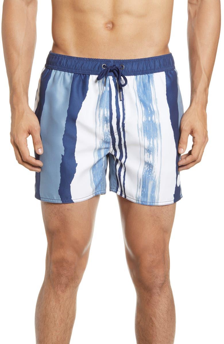NATIVE YOUTH Stripe Swim Trunks, Main, color, 400