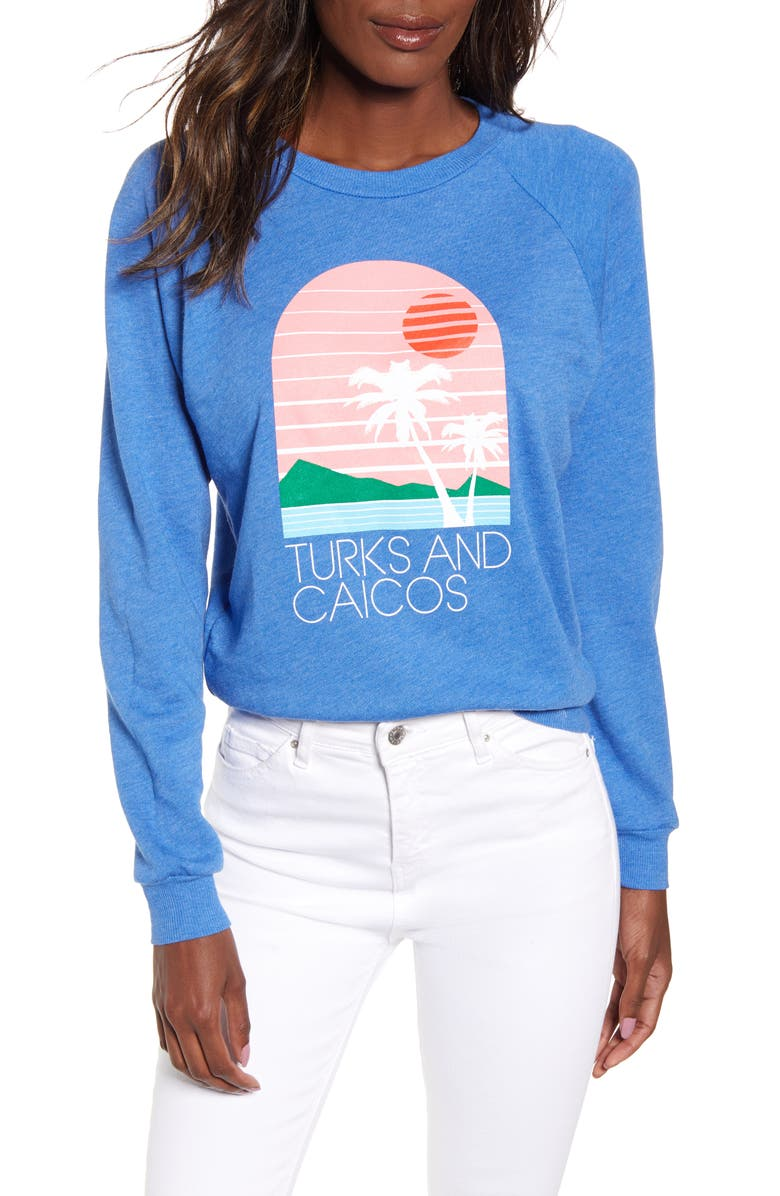 WILDFOX Turks & Caicos Fiona Crewneck Tee, Main, color, 420
