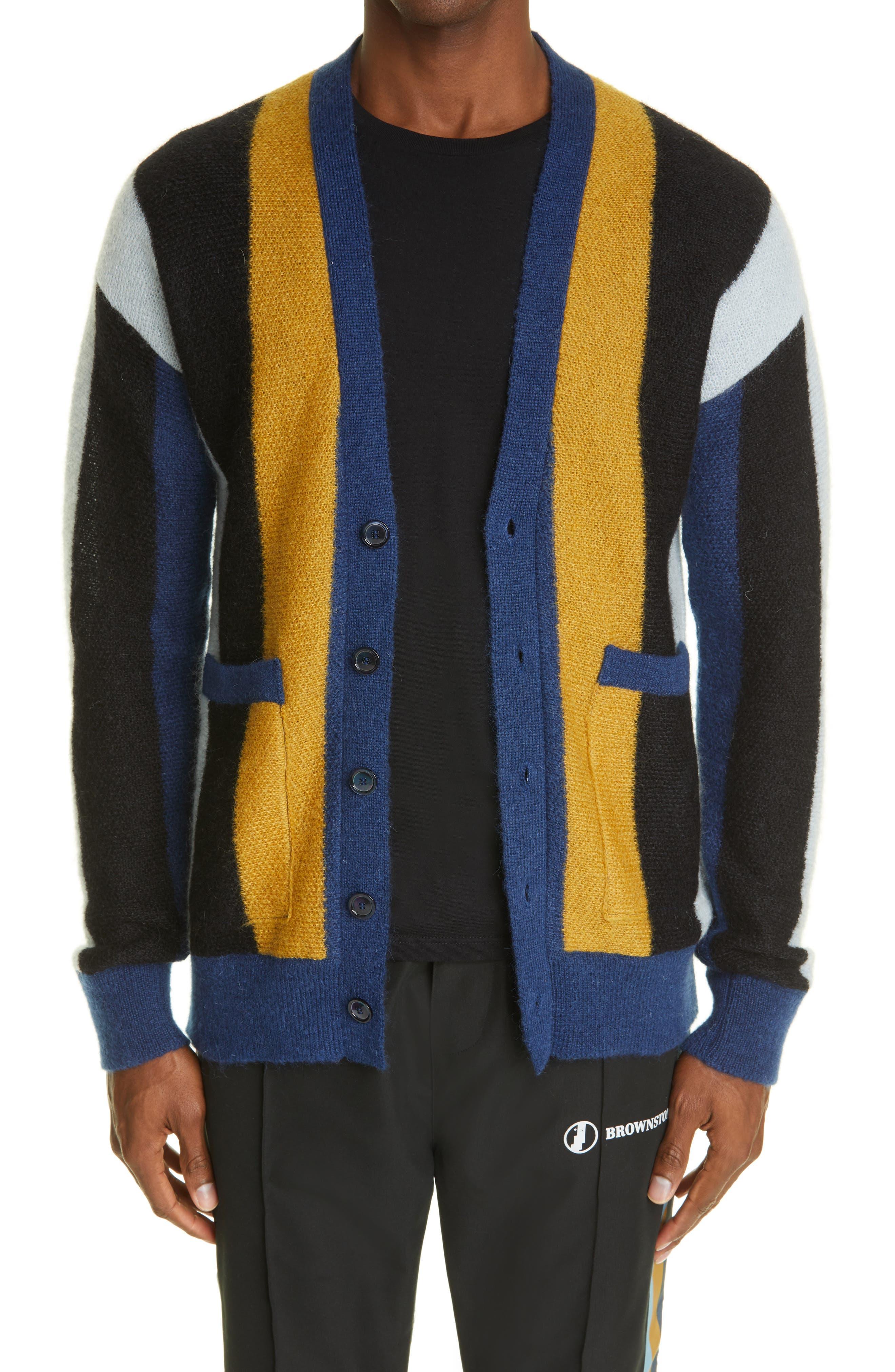 Brownstone Stripe Mohair Blend Cardigan