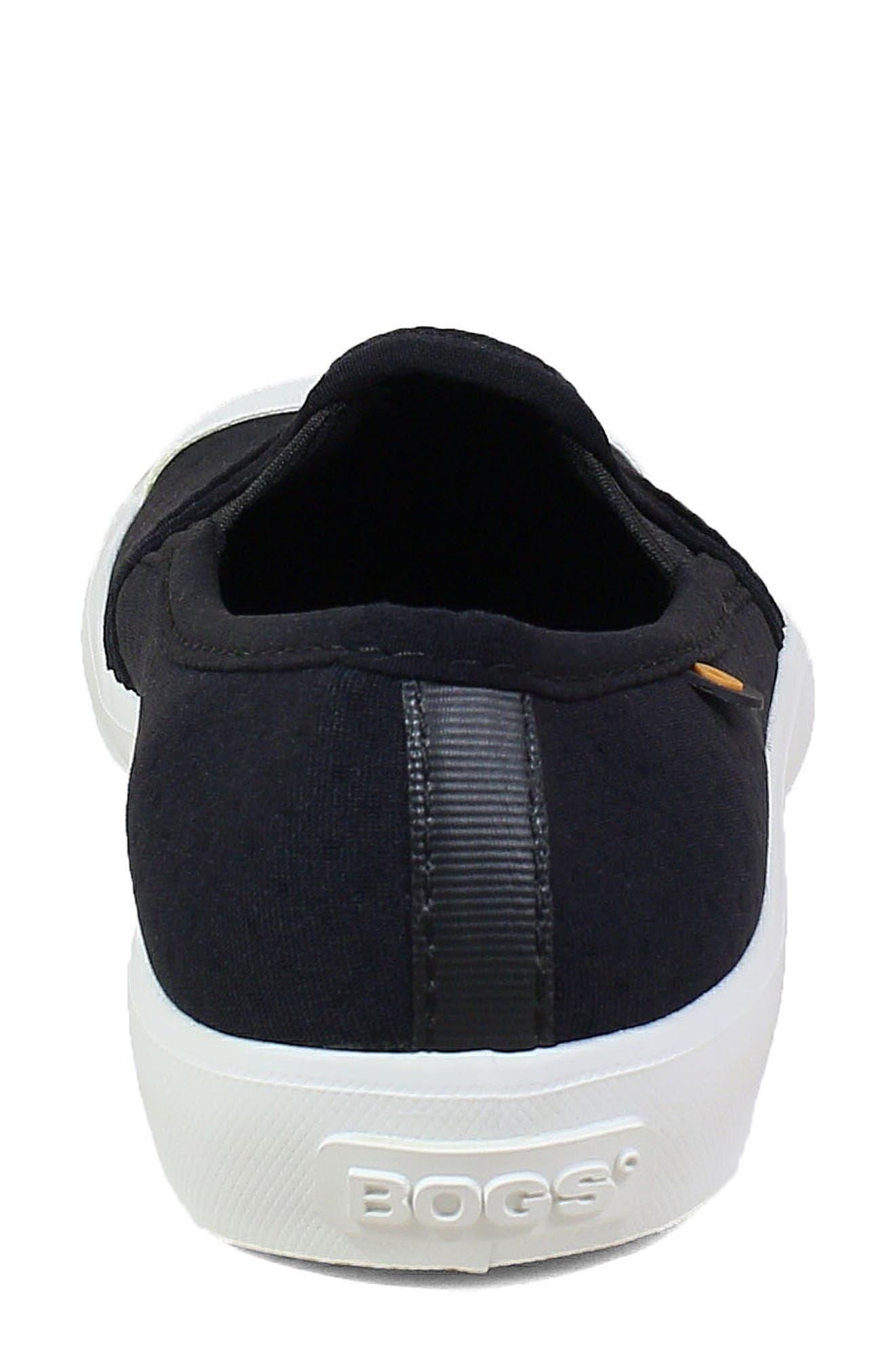 ,                             Kicker Slip-On Sneaker,                             Alternate thumbnail 7, color,                             BLACK CANVAS