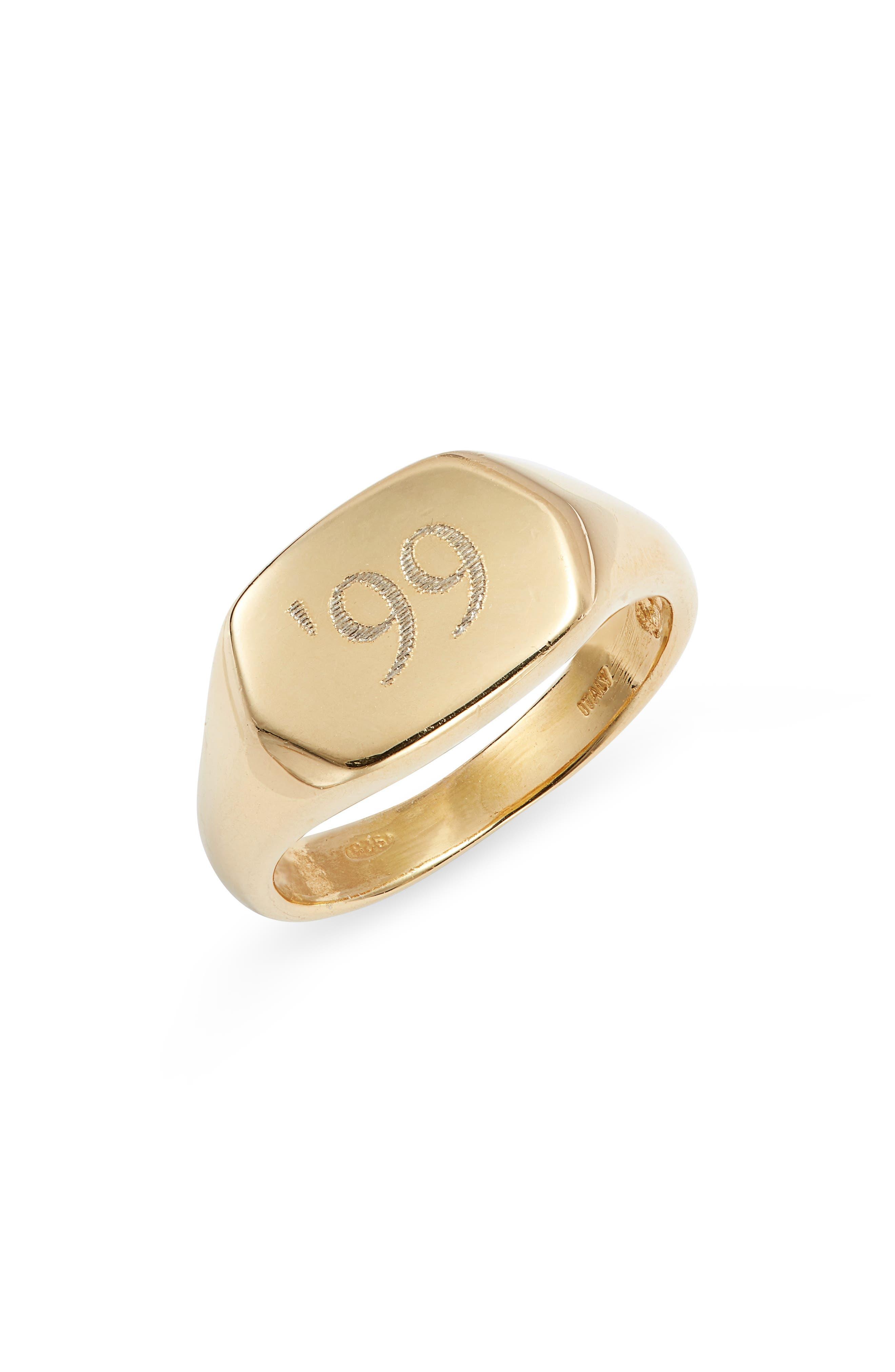 Women's Argento Vivo Personalized Signet Ring