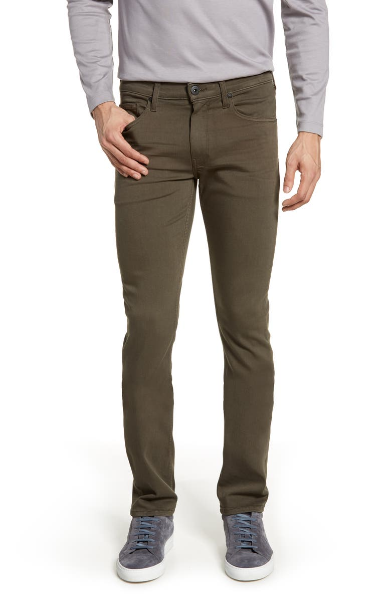 PAIGE Transcend - Lennox Slim Jeans, Main, color, RIVER MOSS