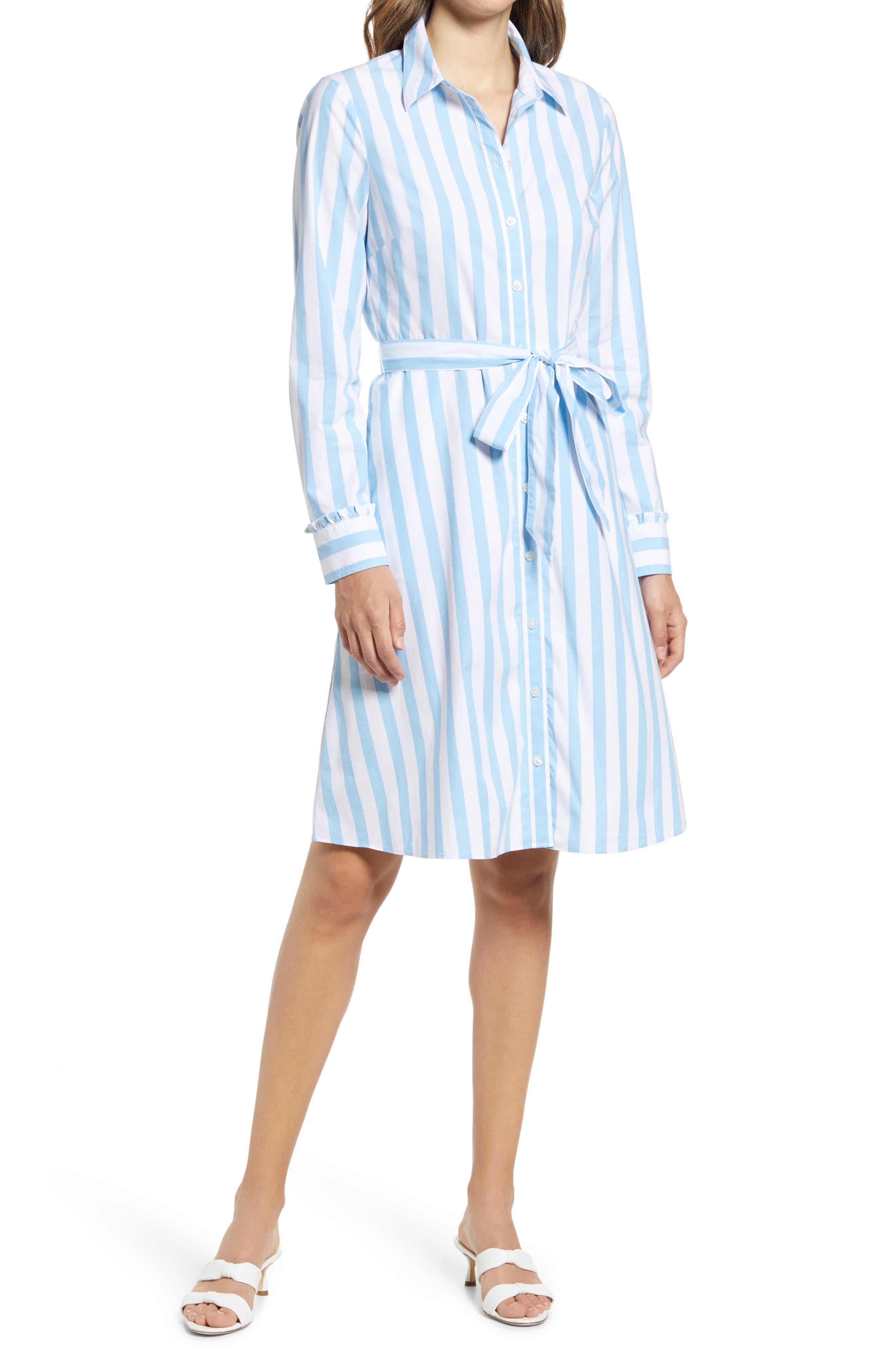Carly Stripe Long Sleeve Shirtdress
