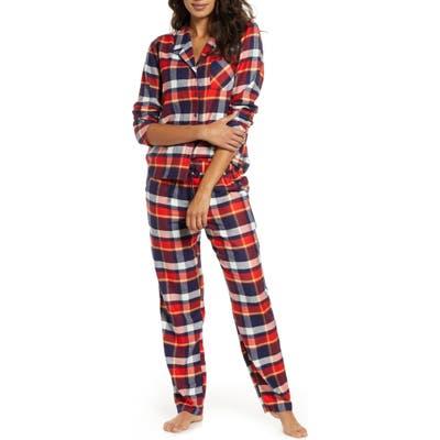Plus Size Nordstrom Flannel Pajamas, Blue