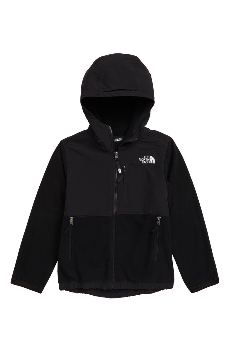 THE NORTH FACE Denali Hooded Jacket, Main, color, TNF BLACK