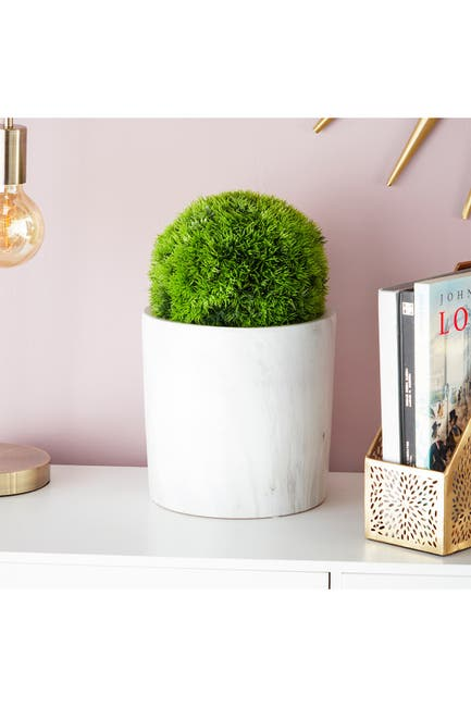 Image of CosmoLiving by Cosmopolitan Small Decorative Faux Grass Indoor Topiary Ball